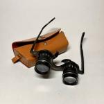 Glasögonkikare Carton 2.5 x med läderfodral Retrolux antik