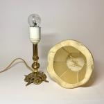 Bordslampa i mässing med textilskärm Retrolux antik