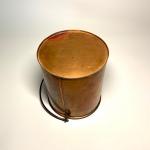 Kopparhink spann med lock hänkel Retrolux antik