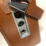 Transistor radio Monark läder Retrolux antik