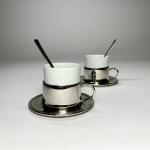 Espresso nysilver och benporslin