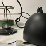 Lampa Lykthus Louis Poulsen 1950-tal industri med nytt upphäng Retrolux antik