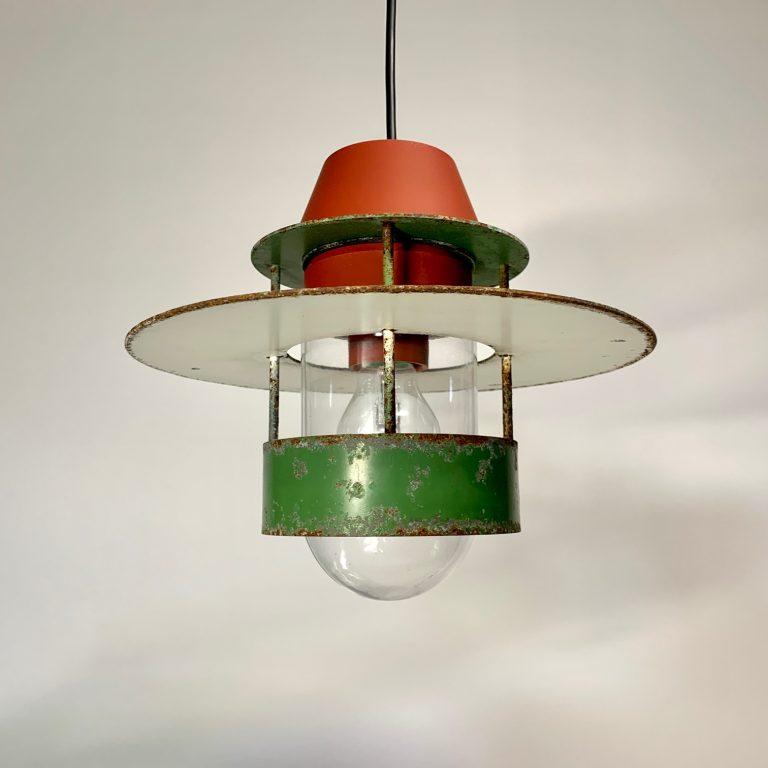 Louis Poulsen tak roströd grön Retrolux antik