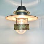 Louis Poulsen Industrilampa Albertslund med upphäng Retrolux antik